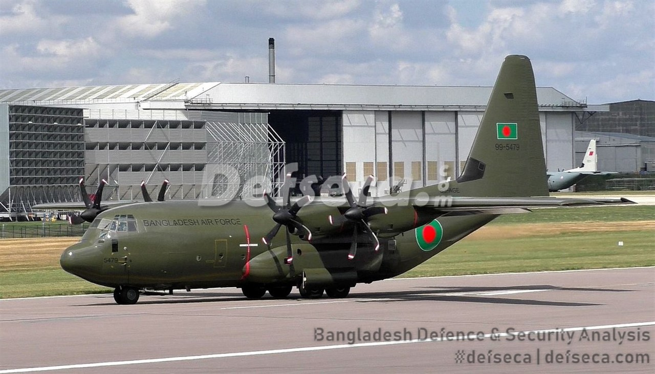 Bangladesh Air Force's first C-130J performs test flight in UK