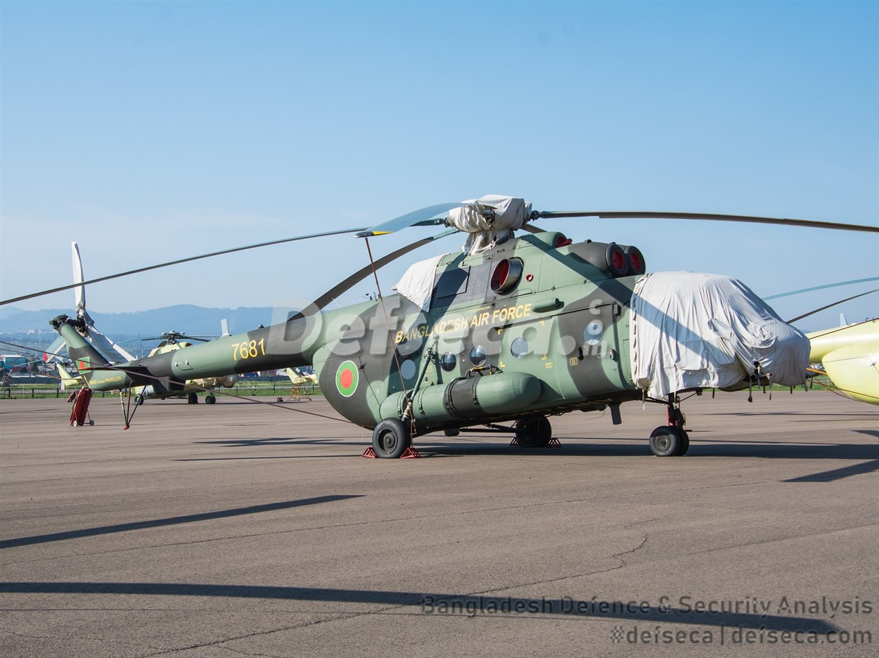 BAF's second dolphin nosed Mi-171Sh appears