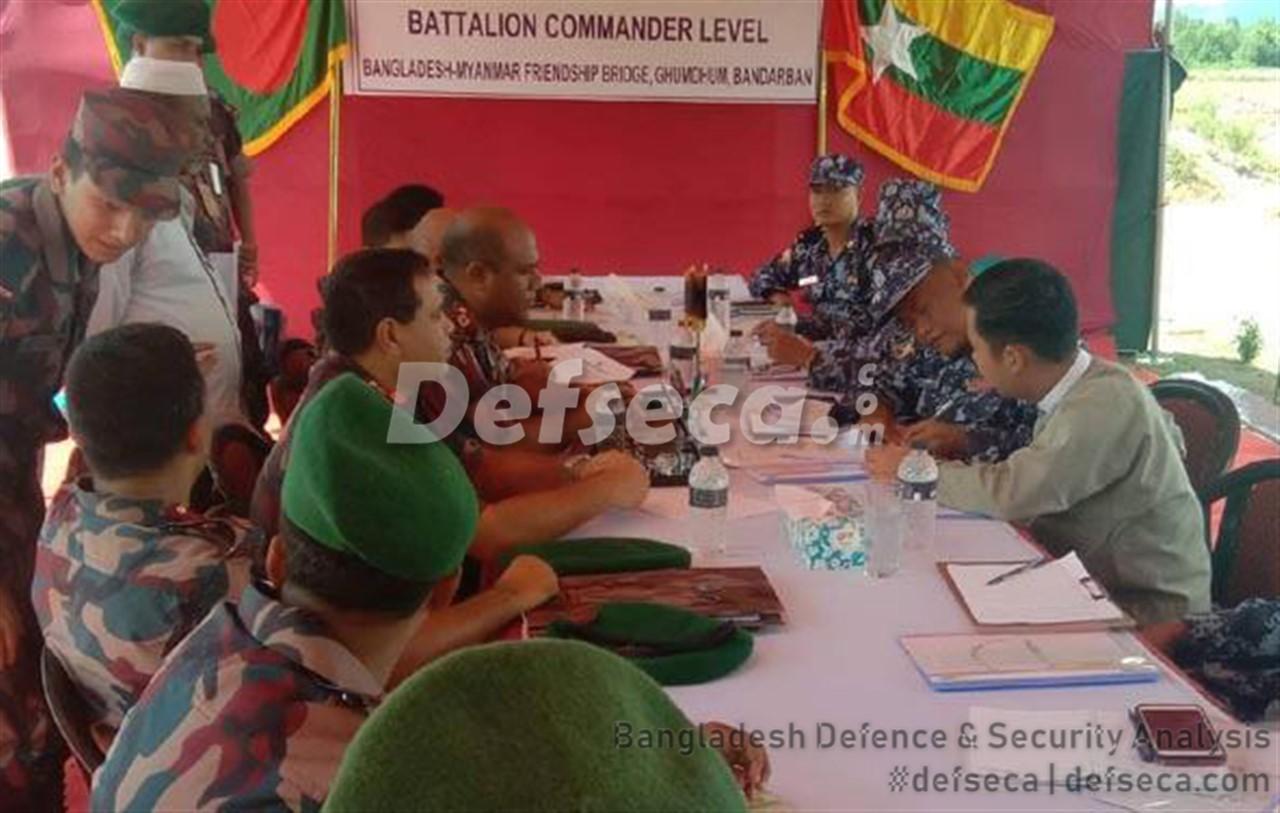 Detained Myanmar soldiers returned through flag meeting