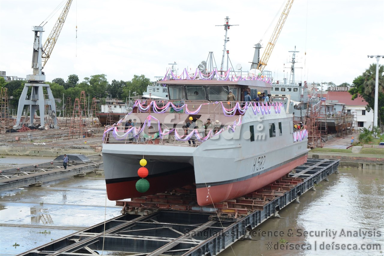 Khulna Shipyard launches catamaran survey vessel