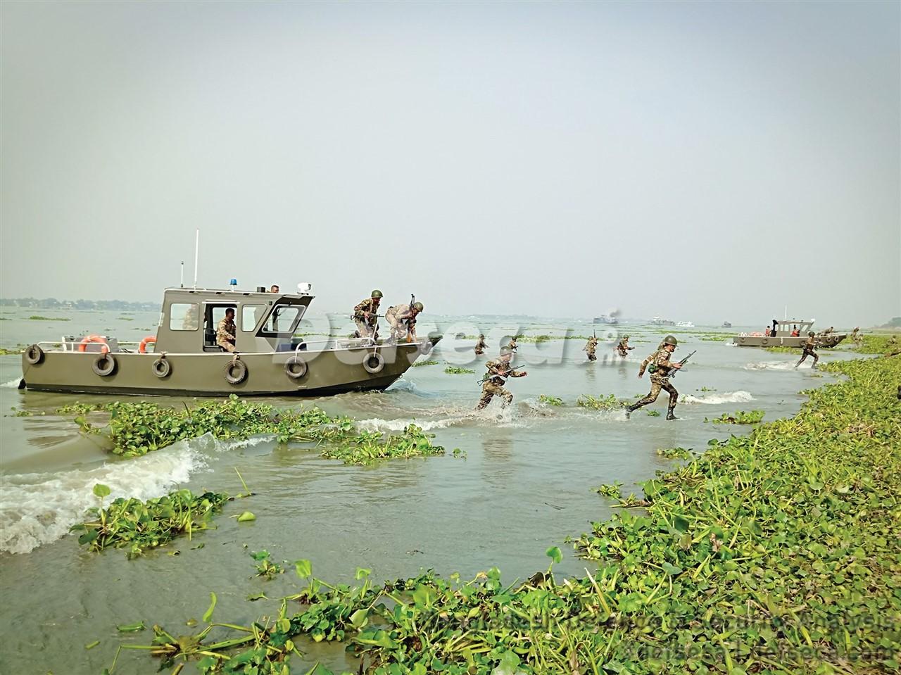 Bangladesh Army's new generation watercraft tested