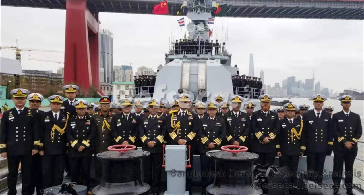 Bangladesh Navy accepts two frigates from China
