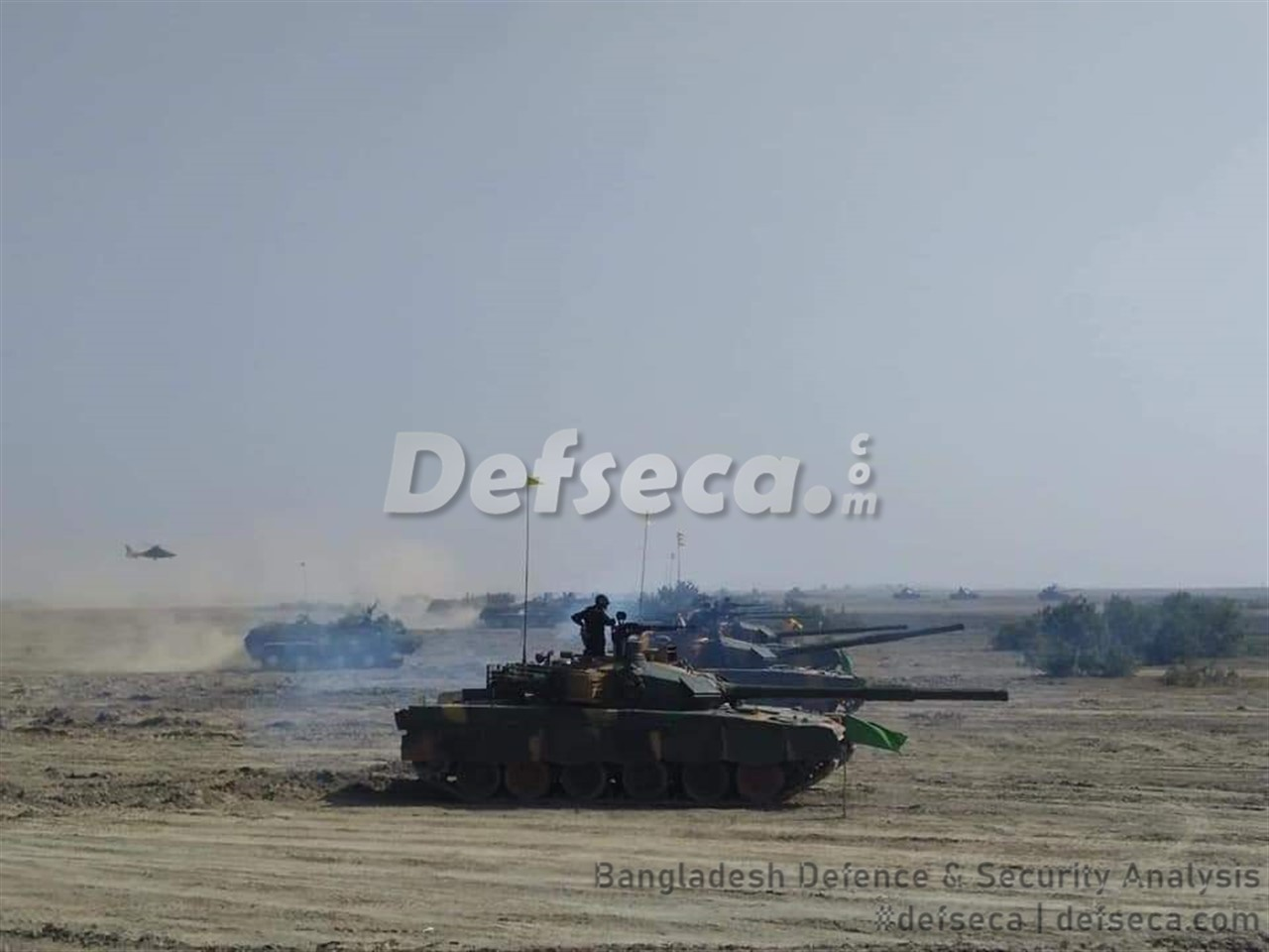 Bangladesh Army holds large scale mock war drills on island