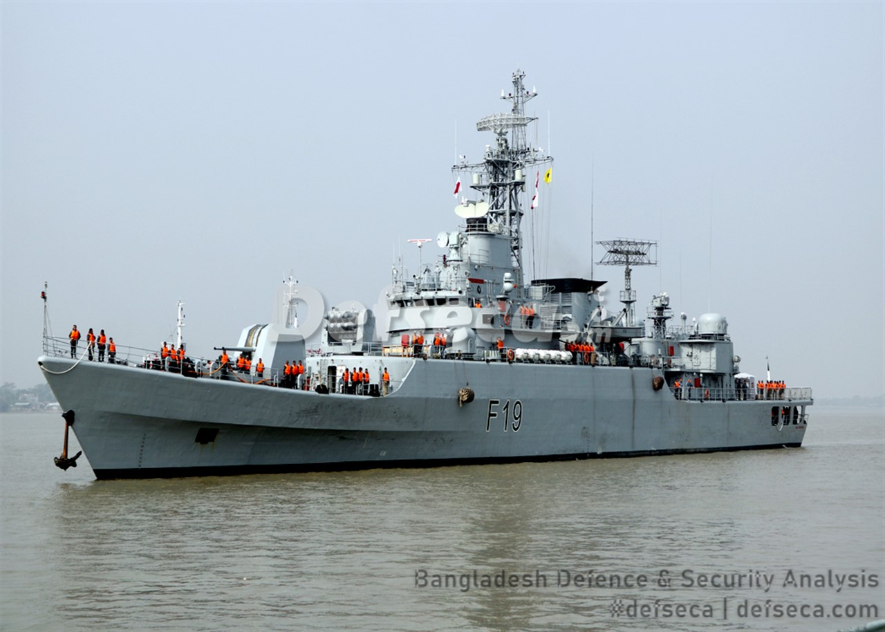 Two new frigates arrive at Mongla naval jetty