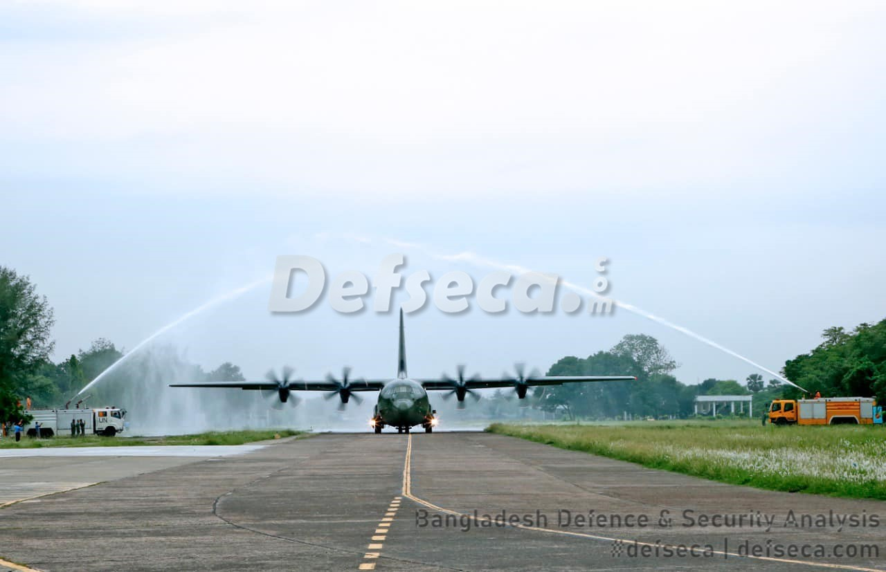 Second C-130J from UK arrives in Bangladesh