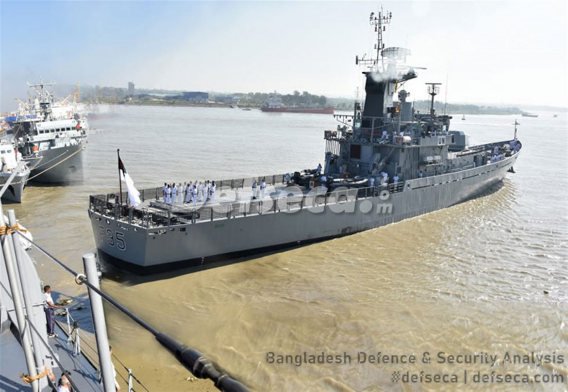 Bangladesh Navy corvette damaged in Lebanon explosion