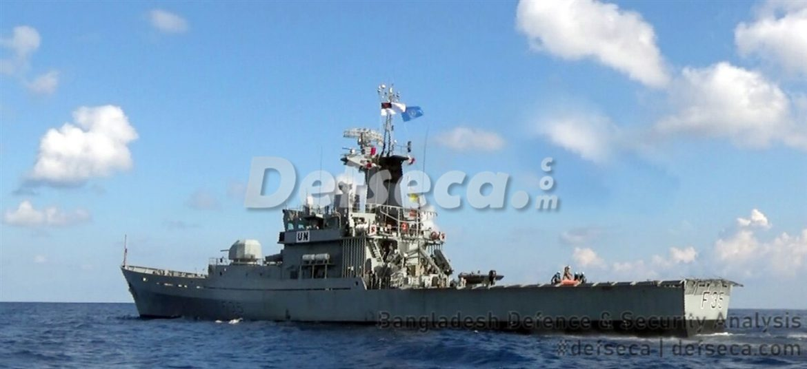 Damaged Bangladesh warship in Lebanon undergoing repairs