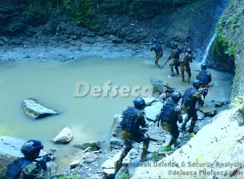 The Bangladesh Army in jungle warfare