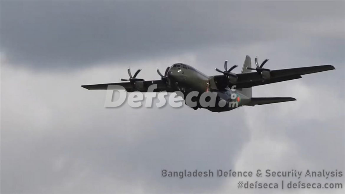 Third Bangladesh Air Force C-130J makes first flight in UK